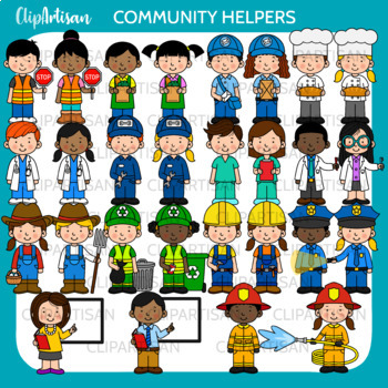Community Helpers Clip Art, Occupations by ClipArtisan | TpT
