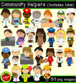 Community Helpers Clipart  (50 png, 300dpi images)