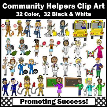 Community Helpers Clipart, Men AND Women Clip Art, Gender Equality, SPS