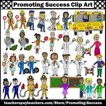 SET 1 Community Helpers Clip Art, Men & Women SPS