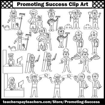 Community Helpers Clip Art, Men AND Women Gender Equality SPS