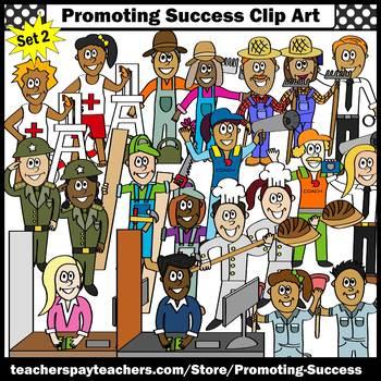 Set 1 Community Helpers Clip Art, Diverse Men AND Women Clipart SPS