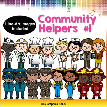 Community Helpers Clipart Set 1