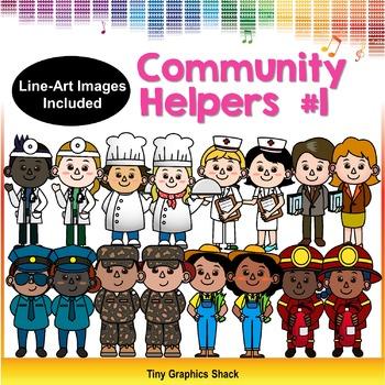 Community Helpers Clipart Set 1