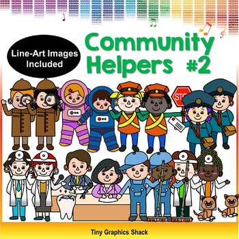 Community Helpers Clipart Set 2