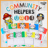 Community Helpers Unit | Community Workers Booklet | Centers