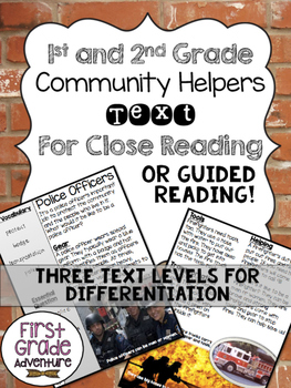 Community Helpers Close Reading/Guided Read Texts {Differe