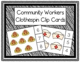 Community Helpers Clothespin Count to 10