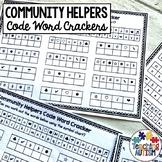 Community Helpers Worksheets Code Word Cracker