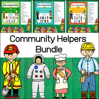 Community Helpers - Color, Draw & Write (Bundle)
