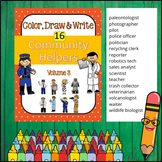 Community Helpers - Color, Draw & Write (Volume 3)