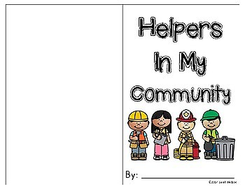 Community Helpers Reader - Color and Complete