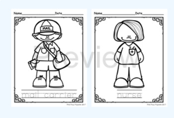 Community Helpers Color and Trace