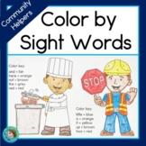 Community Helpers Sight Words Worksheets
