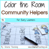 Community Helpers Color the Room