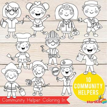 Community Helpers Coloring