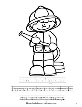 Community Helpers Coloring Book-Level B by WriteBonnieRose | TpT