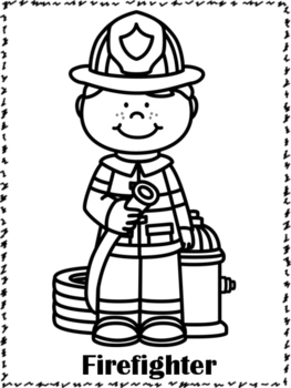 Community Helpers Coloring Pages