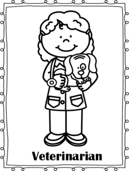 Community Helpers Coloring Page Teaching Resources | Teachers Pay ...