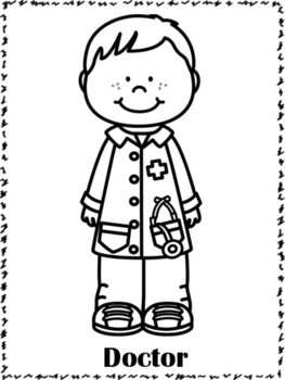 community helpers coloring pages | Community Helpers Coloring Pages by Miss P's PreK Pups | TpT