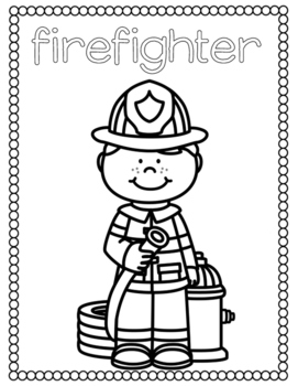 Community Helpers Coloring Pages by Countless Smart ...