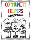 Community Helpers Coloring Pages| Distance Learning