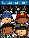Community Helpers Coloring Sheet and Easy Readers