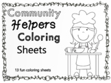Community Helpers Coloring Sheets