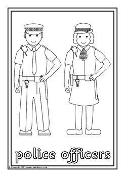 Community Helpers Colouring Sheets