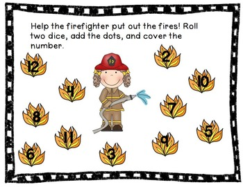 Community Helpers Common Core Math and Literacy Centers