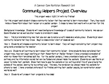 Community Helpers - Common Core Nonfiction Projects