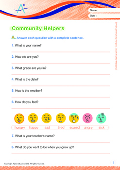 Community Helpers - Community Helpers - Grade 1