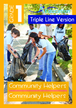 Community Helpers - Community Helpers (with 'Triple-Track Writing Lines')