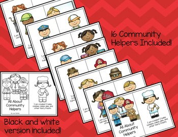 Community Helpers Comprehension Emergent Reader Printable Book