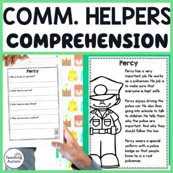 Community Helpers Reading Comprehension Passages and Questions