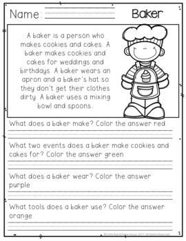 Community Helpers {Comprehension Passages & Mini Books}