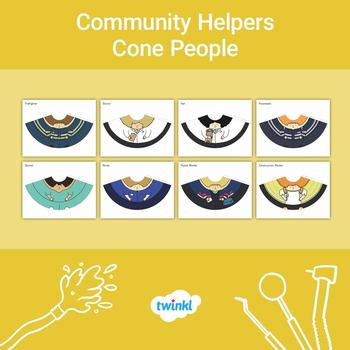Community Helpers Cone People Craft