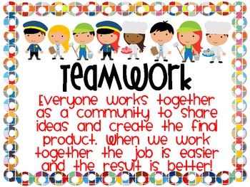 Community Helpers Cooperative Group Work Cards and Posters