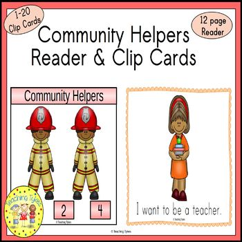 Community Helpers Clip Task Cards