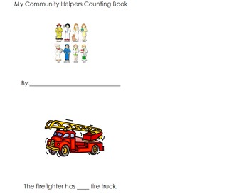 Community Helpers Counting Book