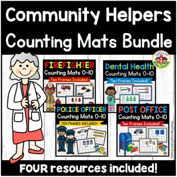 Community Helpers Counting Mats and Ten Frames BUNDLE