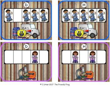 Community Helpers Counting with 5 Frames {Subitizing}