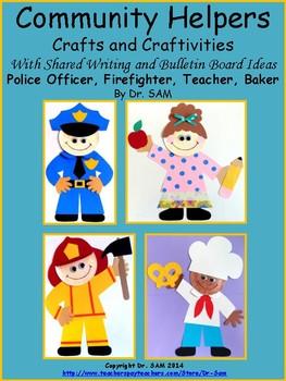 community helpers police officer firefighter teacher and baker crafts