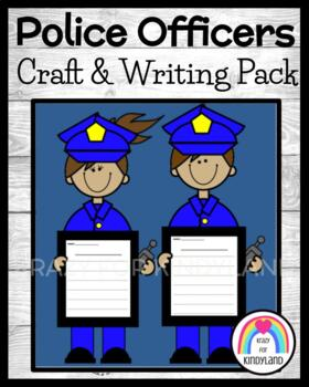 Police Officers Craft and Writing for Kindergarten (Community Helpers)