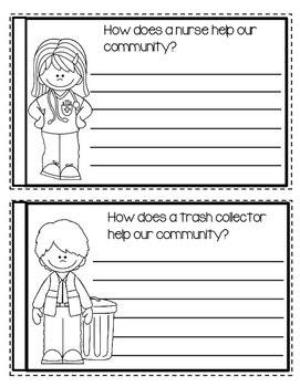 Community Helpers - Create a Book - 4 Different Version UPDATED