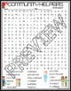 Community Helpers Activities Crossword Puzzle and Word Search Find
