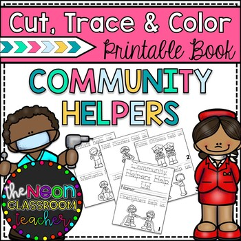 Community Helpers Cut, Trace, & Color Printable Book