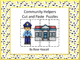 Community Helper, Puzzles Cut and Paste, Special Education and Autism Resources
