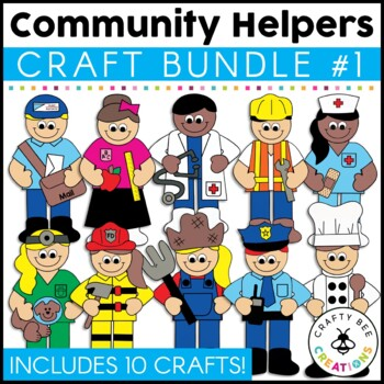 community helpers crafts bundle by crafty bee creations tpt