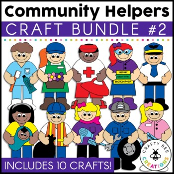 community helpers crafts bundle 2 by crafty bee creations tpt